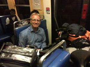Frank im Zug